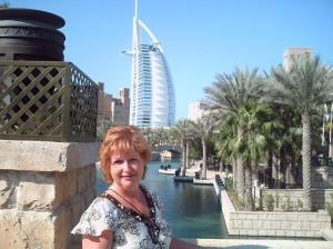 @ Lise Giguère - Moi devant le Burj El Arab !