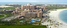 Le Emirates Palace vu du ciel ou d'une tour