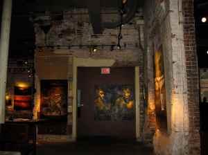Une partie de la galerie d'art