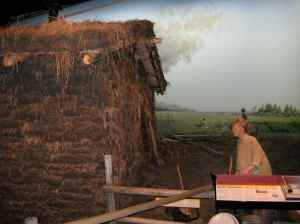 Cabane en terre battue.