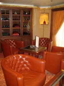 La salle Humidor, le «cigar lounge»