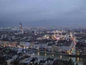 Lyon vu de la colline de Fourvière