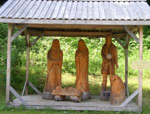 Crèche de Noël réalisée par Victor Dallaire
