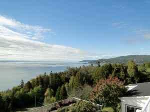 @Lisegiguere- la vue de chez moi dans Charlevoix. Magnifique, n'est-ce pas ?