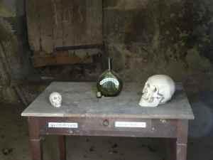 @Lisegiguere - Le crâne d'Henri IV enfant ainsi que l'Arme à Gnac et le crâne de Ravaillac qui sont au centre d'une histoire délirante dans laquelle Gnac (gardien de prison) aurait tué Ravaillac (un bandit).