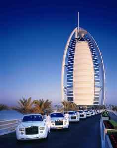 Le Burj el Arab et sa flotte de Rolls Royce