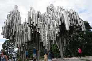 Sculpture à la gloire du compositeur Sibelius