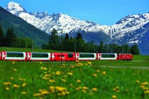 Glacier Express, Goms, Wallis / Glacier Express, Goms, Valais